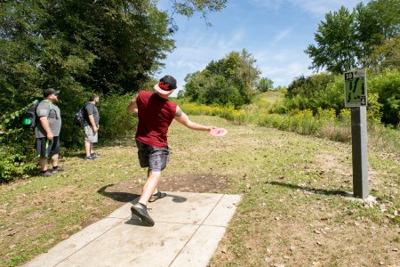 Disc Golf at Rolling Knolls Forest Preserve